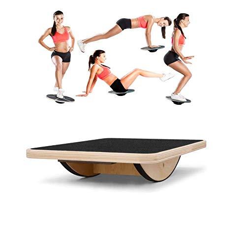 Great Price! JUAN Cushion Balance Board for Exercise, Balance Board Wooden, Exercise Balance Anti Sl...