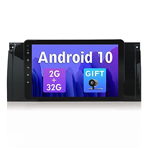 SXAUTO Android 10 Autoradio Compatibile Per BMW M5/E39/E53 - Gratuita Camera Canbus - [2G/32G] - 2 Din - Supporto 4G WiFi DAB Bluetooth Volante CarPlay Google Mirrorlink Android Auto - 8 pollici