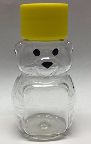 Clearview Container Honey Bear 2.75-Inch Plastic Squeeze Bottle with Screw Cap Small Miniature Container, 2Oz, Pack of 24