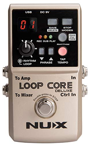 NUX Loop | Loop Core Deluxe 24-bit Looper Pedal Bundle | Guitar FX