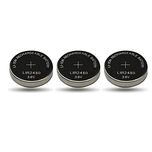 RFGTYH Batería Recargable de Litio LIR2450 de 3,6 V para Control Remoto, Reloj de Juguete, Placa Base de computadora, botón de celda