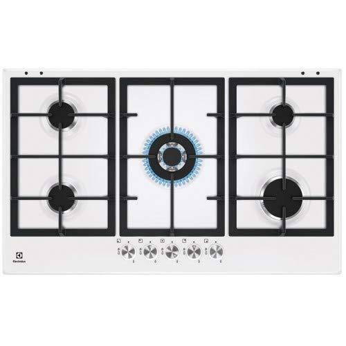 Electrolux - Piano cottura a gas KGS 9536 W finitura bianco e manopole inox da 90 cm