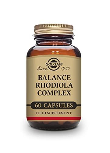 Solgar, Balance Rodiola Complex, Multinutriente y herbario, Vitaminas Grupo B, Funcionamiento del sistema nervioso, 60 Cápsulas vegetales