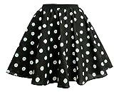 The Dragons Den Conjunto de falda y bufanda para niños, 45,7 cm, color blanco y negro, con lunares