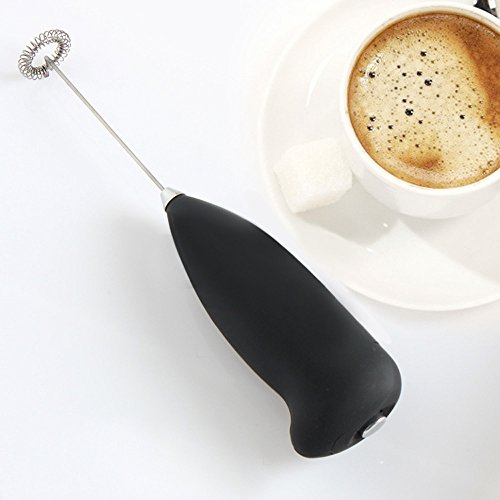 Electric Handheld Frother Whisk Milk Frother XUNMEI Milk Foamer Frother Mini Blender for Coffee Bulletproof Coffee Frappe Latte Matcha (1PC, Black)