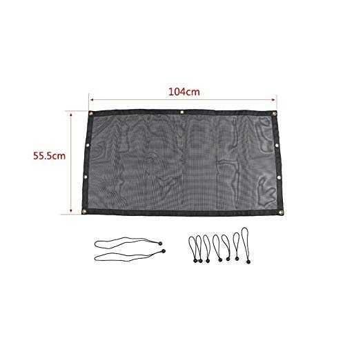 JAP768 Car Top Sunshade Cover Fit For Jeep Wrangler TJ 1997-2006 Car Trunk Roof Anti UV Sun Protect Insulation Hammock Bed Rest Net (Color : Trunk black)