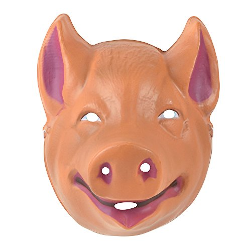 Bristol Novelty PM164 Plastic Masker voor varkens, Unisex-Volwassene, Roze/Beige, One Size
