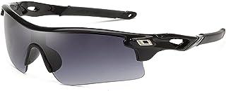 QWKLNRA - Gafas De Sol para Hombre Lente Gris Marco Negro Polarised Sports Sunglasses Gafas De Sol Deportivas para Hombre Gafas De Sol Deportivas Mujeres Gafas De Sol Deportivas Al Aire Libre Gafas Ca
