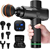 Beloman Massage Gun, Deep Tissue Percussion Fascia Gun After Fitness, 20 Speeds Handheld Massager for Muscle Deep Relaxation, 6 Different Massage Heads to Relieve Pain Different Locations
