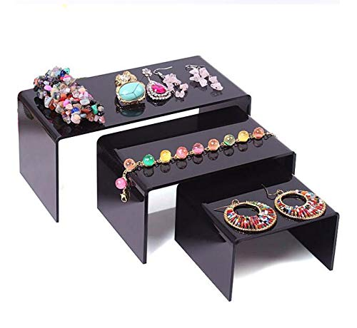 MUY Großhandel Clear Jewelry Display Stand Toy Mobile Geldbörse Schuhe Armbänder Display Plexi Halskette Ohrring Regal Ostern