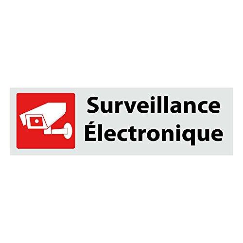 Plaque Surveillance Électronique en ALU Composite - Format 16x4.7cm – Panneau Signalétique Rigide en Aluminium