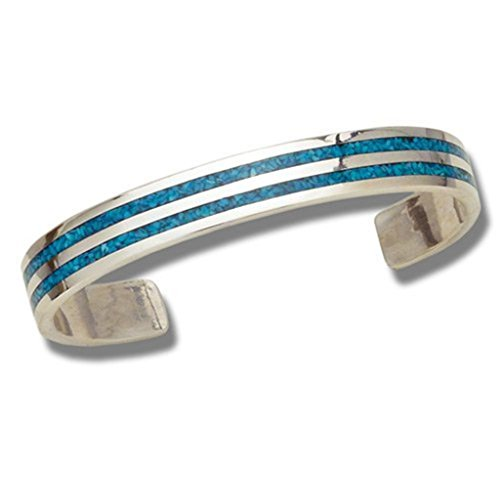 Indianerschmuck Chip Inlay Armreif Türkis Navajo Style Westernschmuck USA Armband