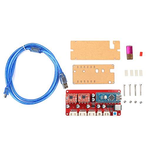 Controlador Controlador Tablero Máquina de grabado láser Placa base Controlador de controlador de motor paso a paso con cable tipo T