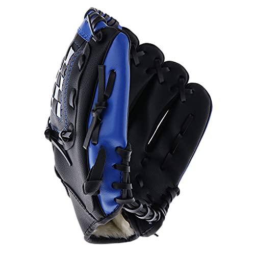 Simhoa Premium PU Leather Baseball Pitcher Gloves Thrower Mitt for Kids Teens Adult - Black, 11.5 inch