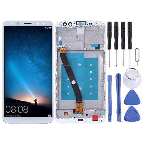YCZLZ Nieuwe touch screen Glass Lens LCD Screen en Digitizer Volledige montage met Frame voor Huawei Mate 10 Lite / Nova2i (Maleisië) / Maimang 6 (China) / Honor 9i (India) / G10(Zwart) + Gereedschap, Kleur: wit