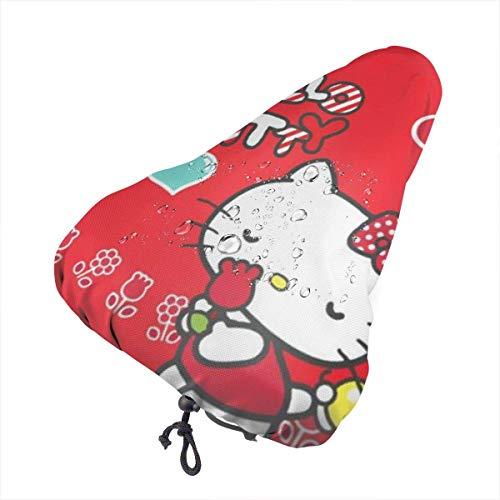 Fahrradsitzbezug, Hello Kitty mit Rose Wasserdichter staubdichter Outdoor-Fahrradsattel Regenschutz