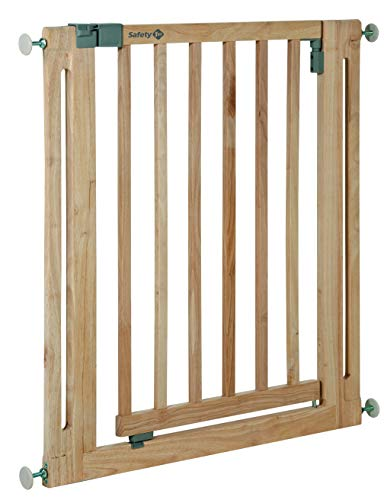 Safety 1st 24040100 - Barrera de puerta de seguridad Easy Close, a presión, color madera natural