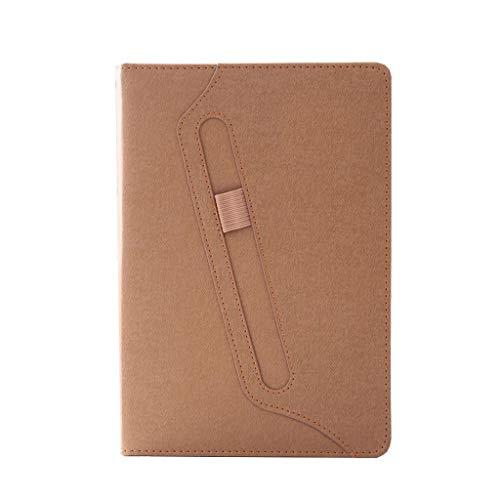 Cuadernos Cuaderno Papel Grueso Libro de Mano Papelería de Oficina Línea Recta 128 páginas Marrón Negro Oficina y Papelería (Color : Brown, tamaño : 17.5 * 25.5cm)