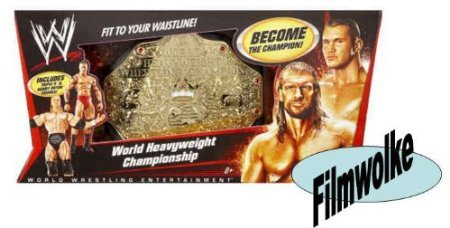 Mattel WWE Wrestling Exklusiver World Heavyweight Championship Gürtel inkl. Triple H & Randy Orton Actionfiguren...