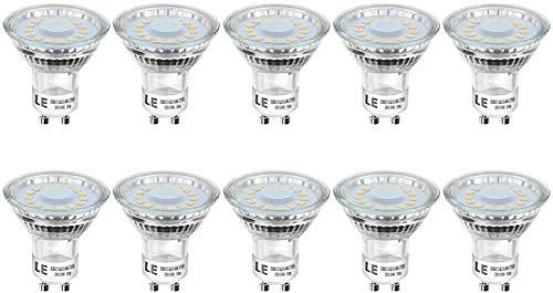 LE Lampadina LED GU10, 4W 350lm PAR16, 4W Pari Alogene 50W Luce Bianca Calda 2700K, Confezione da 10 Pezzi