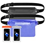 Waterproof Case,Waterproof Phone Pouch,Dry Bag Waterproof Waist Pouch with Strap,Touch Screen Compatible