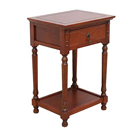 Mesa de cama, Mesitas de mesita de noche americana con cajones, el sofá al lado del gabinete, mesa lateral de madera maciza, estante de flores de sala de estar, estante de ternura de peces, mesa de ca