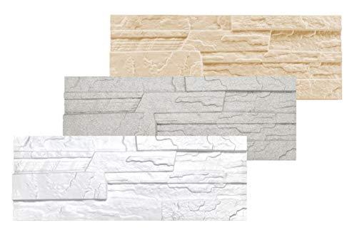 1,04 qm | Verblender | EPS | druckfest | Marbet | 48x18cm | Stone weiß
