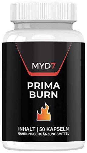 Prima Burn | Abnehmen | Hochdosiert | Extrem | Schnell | 50 Kapseln