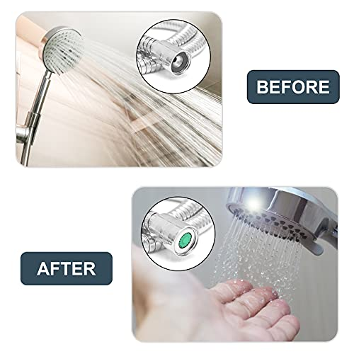 shower head water restrictor reducing water flow
