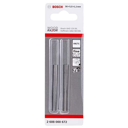 Bosch 101192933 HM Hobelmesser zum Akku-Einhandhobel GHO 12 V-20, 56mm Breite, 2 Stück