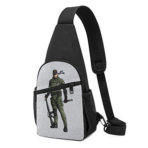 Metal Gear Solid Peace Walker Big Boss Sling Bapa Sling Bag Bla Crossbody Daypa Casual Bapa