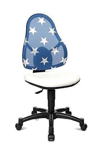 Topstar Open Art Junior kinderdraaistoel, wit, net-rug blauw met sterren