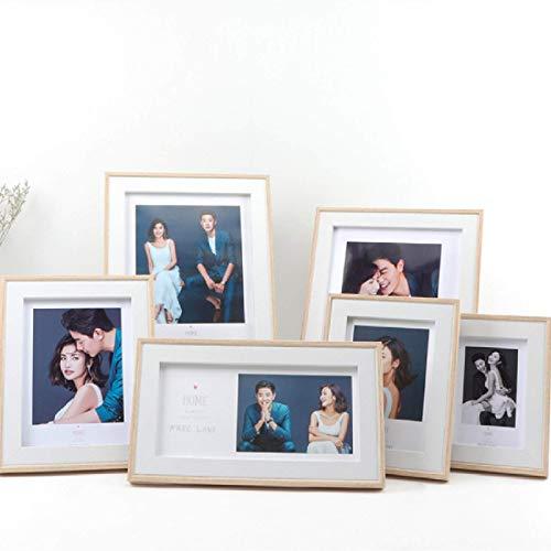 Marco De Fotos Blanco, Gris, Moderno Y Simple, Sala De Estar En Casa, Marco De Espejo para Colgar En La Pared De La Foto De La Boda De Los Niños 4x6 Inch(10.1x15.2cm)