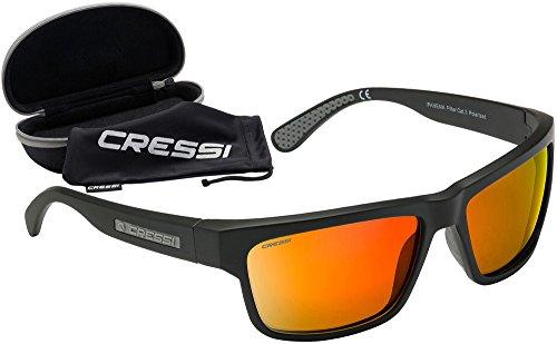 Cressi Ipanema Sunglasses Gafas de Sol, Unisex Adulto, Gris/Lentes Naranja Espejo, Talla única