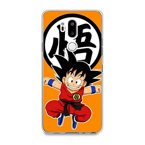 GHRDTHGFGER Compact Shell Clear Coque Soft Transparent Thin TPU Crystal Liquid Printing Case Cover For LG G7 ThinQ-Anime-Goku Dragon-Ball 6