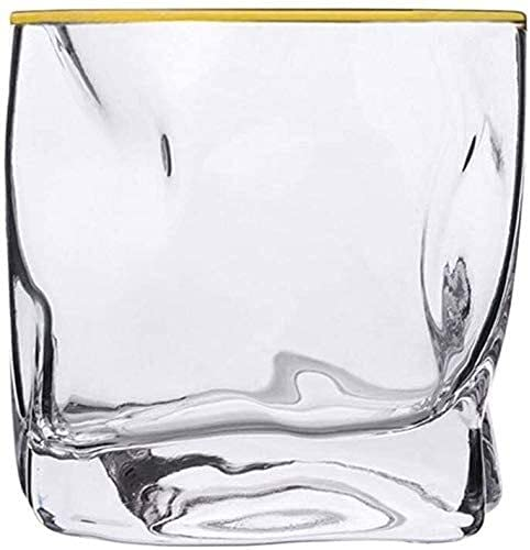 Decantador de whisky Decantador de vinos Conjunto de 2 Tumblers de whisky torcido Vidrios de whisky Gafas Ultra-Claridad Conjunto de vidrio antiguo Copa de cóctel para Bourbon Vintage Whisky Vidrio Co