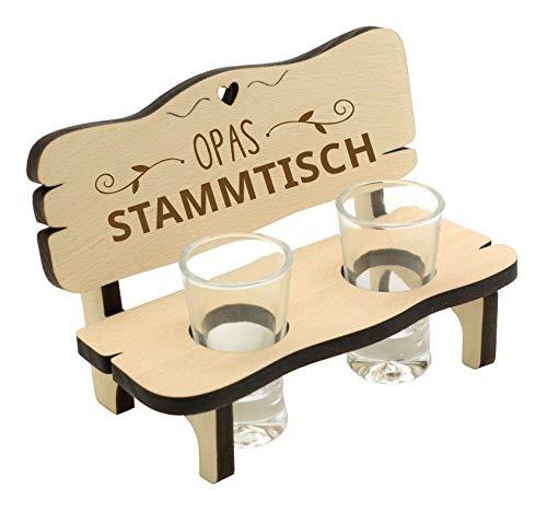 Spruchreif PREMIUM QUALITÄT 100% EMOTIONAL · Schnapsbank mit Gravur · Schnapsbank mit 2 Gläsern · Schnapsbank für Opa · Schnapslatte mit Gläsern · Geschenke für Opa · Stammtisch Opa