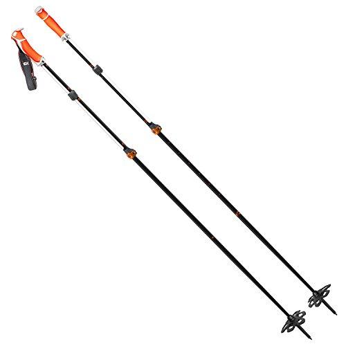 G3 Via Carbon Ski Poles-Black/White-95-125mm