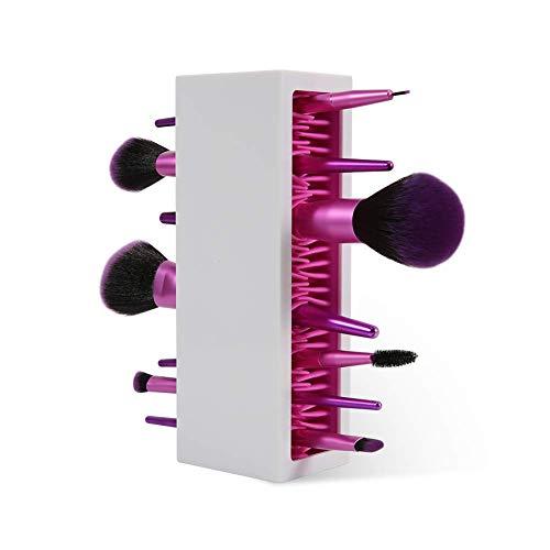 DUcare Organizador de brochas de maquillaje profesional de silicona para secado de aire para encimera, contenedor de cosméticos