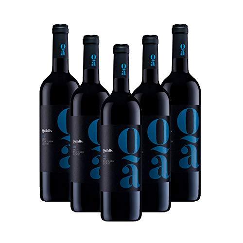Vino tinto Quadis Joven de 75 cl - D.O. Tierra de Cadiz - Bodegas Barbadillo (Pack de 5 botellas)