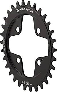 Wolf Tooth Elliptical/Oval Drop-Stop Chainring for 104/64BCD 4-Arm Cranks
