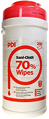 Sanicloth UNXPOO159 70 Alcohol Wipes (200) by PDI