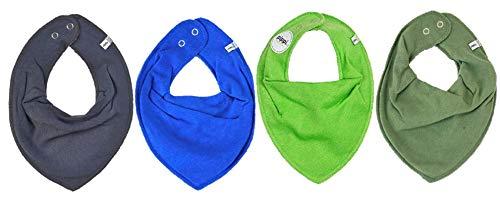 Pippi Lot de 4 bavoirs triangulaires pour bébé (Mix14 Boy)