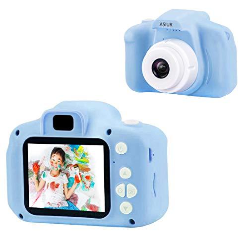 ASIUR Cámara Digital para niños Juguetes Cámara de Fotos para niños pequeños Pantalla HD de 2 Pulgadas Cámara de Video 1080P Regalos para niños y niñas de 3 a 8 años (Bleu)