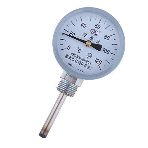 Thermometer Zeigerthermometer, Analog und Bimetall, Bereich: 0-120 ℃