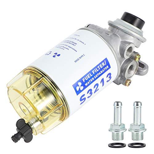 Kraftstoff-Wasser-Trennfilter, Marine-Kraftstofffilter Wasser-Separator Komplettset Öl-Wasser-Separator S3213 Boot Außenbordmotor Teile