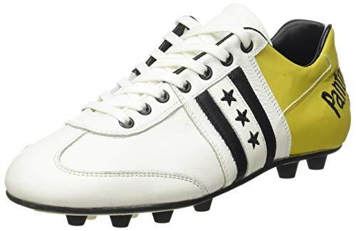 PANTOFOLA D'ORO 1886 Piceno, Chaussure de Football Homme, Bianco Giallo, 46 EU
