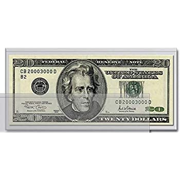 Protectors #07 Money Holders 10 Large Dollar Bill Currency Sleeves