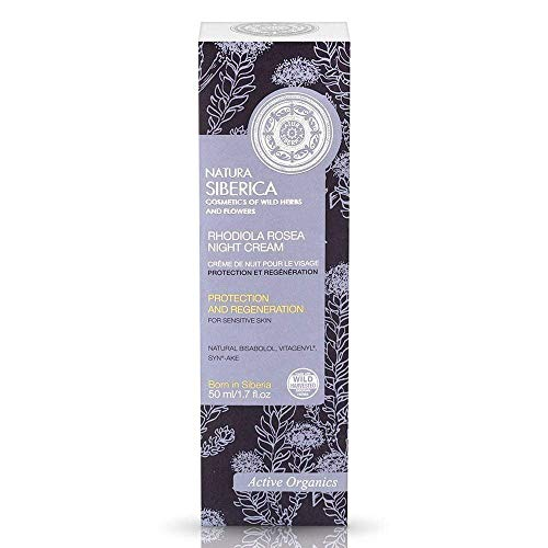 Natura Siberica Rhodiola Rosea, Crema nocturna facial - 50 ml.