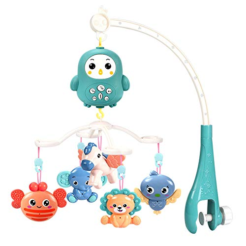 Review ACHICOO Baby Remote Control Crib Mobiles Rattles Music Educational Toys Bed Bell Toy for Newb...